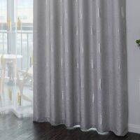2020 New Design High Quality Blackout Curtain Diamond Hemp Thermal Insulated Living Room Window Shading Customized Curtains