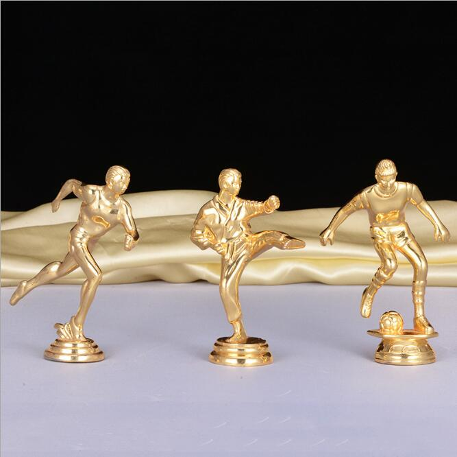 Creative Black Crystal Trophy Figurines Home Statue Crafts Gold plated Oscar Trophy Sculptures Accessories Livingroom Ornaments