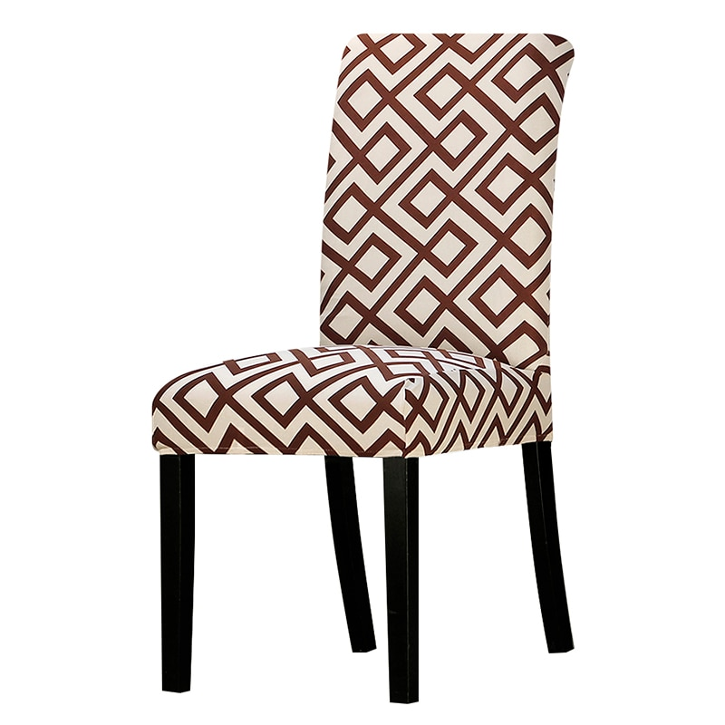1 Piece Printed Chair Cover Washable Removable Big Elastic Seat Arm Covers Slipcovers Stretch For Banquet Hotel living dining