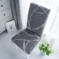 Dining Chair Cover Spandex Elastic Chair Slipcover Case Stretch Seat Cover for Wedding Hotel Banquet Living Room
