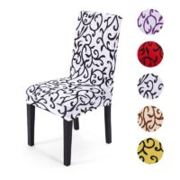 Removable Spandex Dining Chair Cover Seat Slipcover Restaurant Home Party Wedding Decoration Chair Covers Stretch