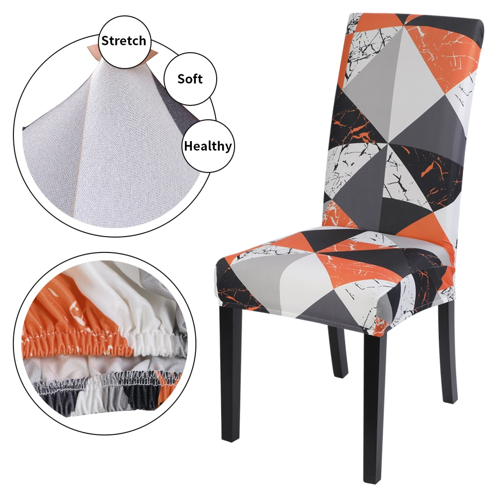 1/2/4/6PCS Chair Covers Spandex Elastic Slipcovers Universal Size Chair Covers For Wedding Hotel seat cover Chair Cover Stretch