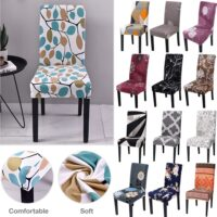 Spandex Elastic Printing Dining Chair Slipcover Modern Removable Anti-dirty Kitchen Seater Case Stretch Chair Cover for Banquet