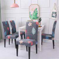 Chair Covers Spandex Pattern Hotel Banquet Wedding Chair Cover Housse de Chaise fundas para sillas de comedor