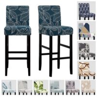 Solid Color Stretch Bar Chair Cover Seat Cover Slipcover Hotel Banquet Dining Housse De Chaise Armchair Elastic Christmas Home