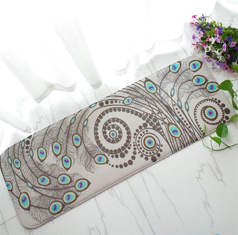 Lattice Pattern Printed Floor Mats Anti-slip Rugs Carpets Front Door Peacock Doormat Bathroom Carpet Kitchen Mat Floor Mat Gift