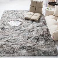 Long Hair Carpet Wool Bedroom For Home Living Room Nordic Girl Bed Side Table And Bath Entrance Hall	Large Size Hairy Plush Rug