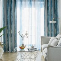 Nordic Gradient Stripe Curtain for Living Room Soft Natural Fabric for Bedroom Window Blackout Curtain Drape X721#40