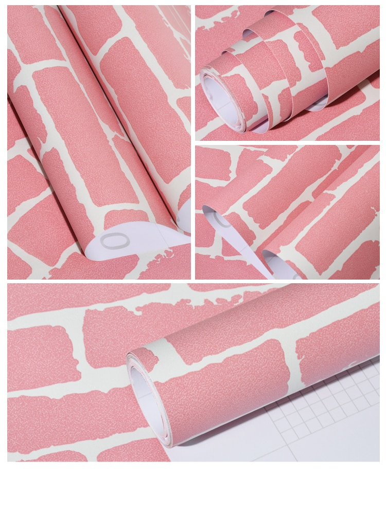 Vinyl self adhesive wallpaper 3D brick stickers Wall PVC waterproof wall paper for living room kitchen bathroom Decoration