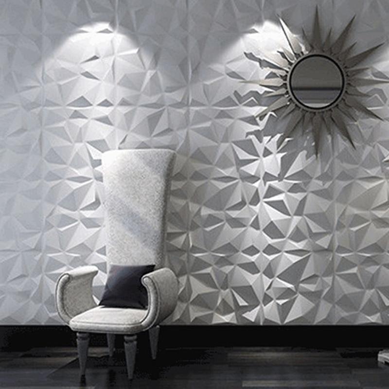 3D Plastic Wall Panel Decor Stickers