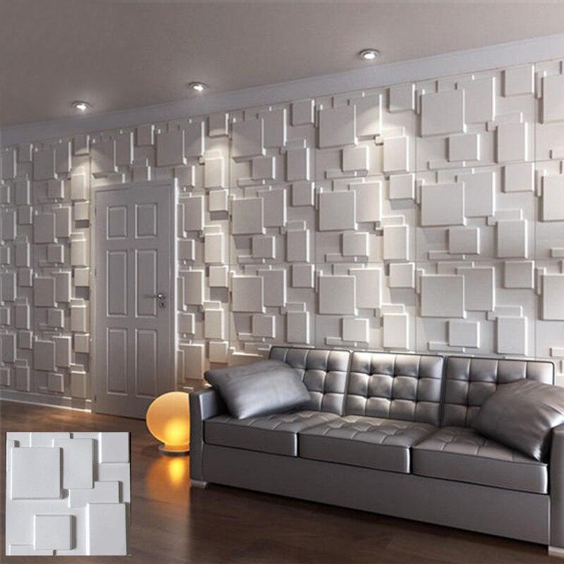 30x30cm 3D tile panel mold plaster wall 3D wall stickers living room wallpaper mural Waterproof 3D Wall sticker Bathroom Kitchen