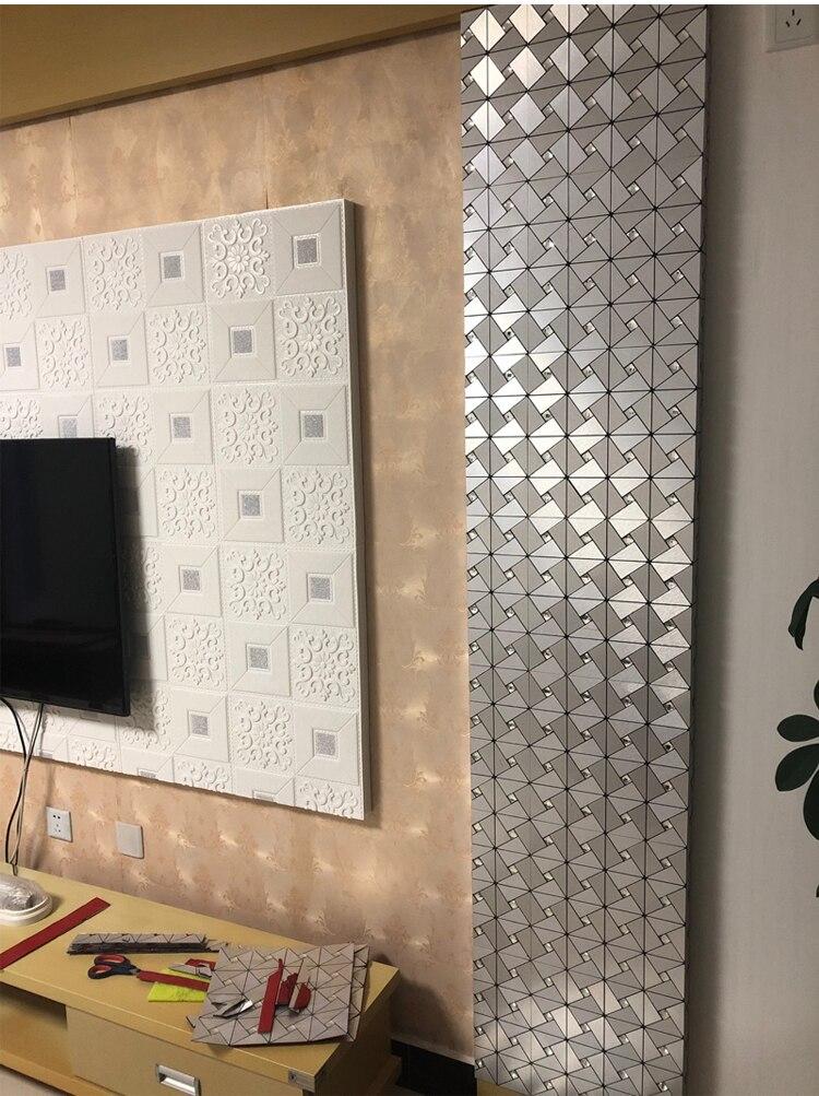 3D Metallic Geometric Pattern Wall Panel Wall Decor