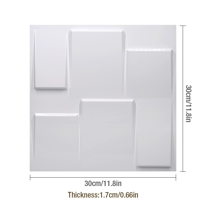 3D Wall Panel Plastic Tile Wall Stickers Home Decor