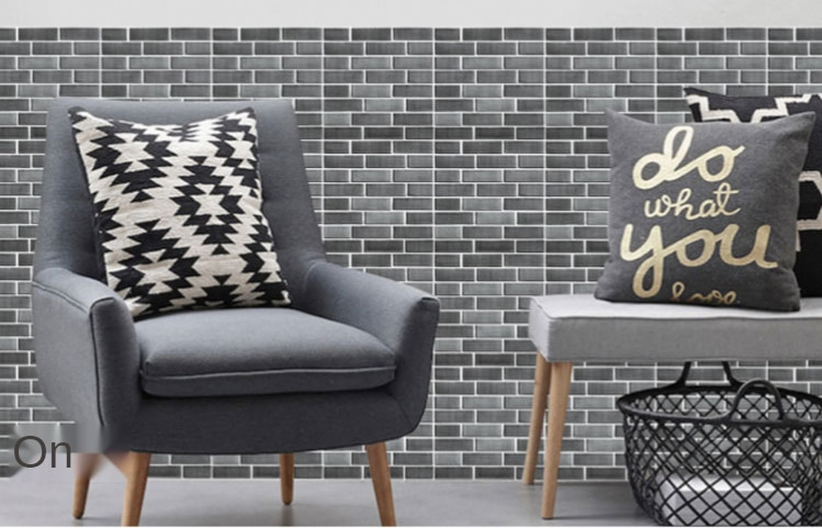 Self Adhesive Tile Wall Sticker Home Decor 3D PVC Sticker Covers For Kitchen Bathroom Waterproof Wall Decor